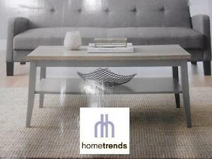 NEW HOMETRENDS COFFEE TABLE 40 IN. W X 20 IN. D X 18 IN. H, GREY/RUSTIC WOOD 103185079