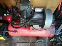 clarke air compressor 50 ltr tank 5hp motor £140