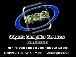 Wayne's Computer Services diagnosis is always free.