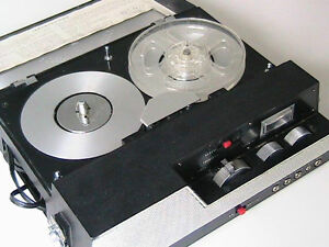 Tape recorder, with tape. Battery operated or 110V. Made in US $