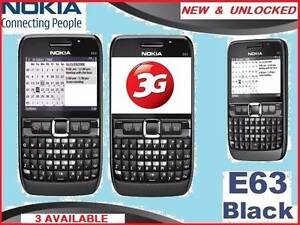 NEW 3G NOKIA E63 x 3 UNLOCKED O484 189 733 $95each. Castle Hill The Hills District Preview