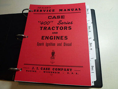Case 400 Series Tractor Engine Service Manual Repair Shop Book New With Binder