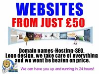 Professional Website from just £50 : We can have you up and running in 48 hours.
