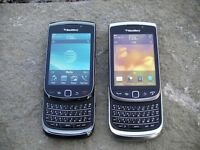 2-Blackberry Torch 9800-Excellent Condition, Very MINT