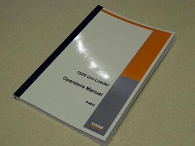Case 1835 Uni-loader Skid Steer Operators Manual Owners Maintenance Book New