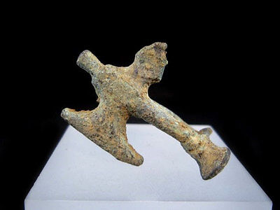 EXTREMELY RARE ROMAN BRONZE FIBULA in Shape of an AXE+++