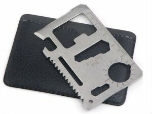 11-in-1 Stainless Steel Credit Card Multi Tool EDC