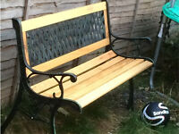 Metal and wooden garden bench **BRAND NEW**