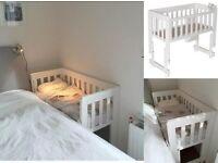 Troll bedside crib / co-sleeper crib
