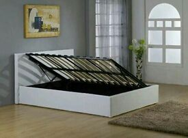 Double bed Ottoman side lift storage bed brand new boxed