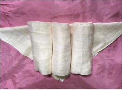 Set of 3 Raw Silk Washcloths, Spa face Towel, Raw Silk face towel, best for