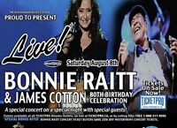 Bonnie Raitt With James Cotton. SAVE  $$$$$$