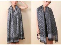 Louis Vuitton scarf .(black ,teal,brown )