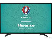 "Hisense HE50KEC315UWTS 50"" Black 4K UHD DLED TV SMART Graded Boxed Item"