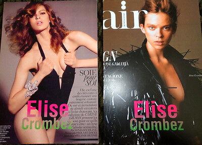 Elise Crombez lot 2 model agency card fashion model vogue elle Victoria Secret