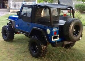 Jeep Tj lifted and built