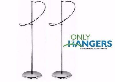 Only Hangers New 29 Ball Spiral Garment Clothing Rack Chrome Set Of 2