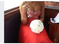 Red prom dress, or bridesmaid dress