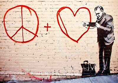 BEST OF BANKSY POSTER OPTIONS A4 Print Home Wall Decor Graffiti Street Artist