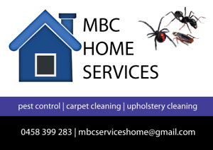 MBC HOME SERVICES - PEST CONTROL UPHOLSTERY & CARPET CLEANING Margate Redcliffe Area Preview