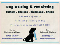 Dog Walking & Pet Sitting in Fulham/Chelsea/Richmond/Sheen