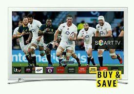 "White Samsung 22"" LED smart tv Wi-Fi built USB MEDIA PLAYER HD"