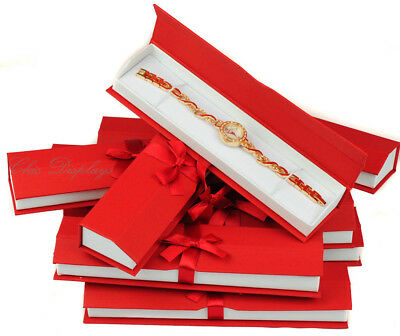 Lot Of 12 Wholesale Red Watch Box Bracelet Box Showcase Box Red Jewelry Gift Box