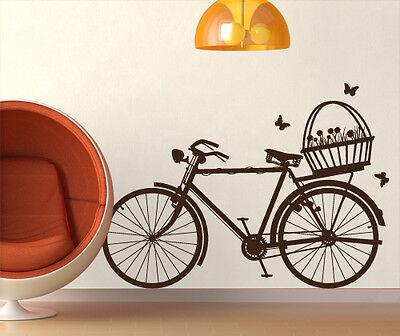 00371 Wall Stickers Adesivi Murali Design Bicicletta con cestino 120x86cm