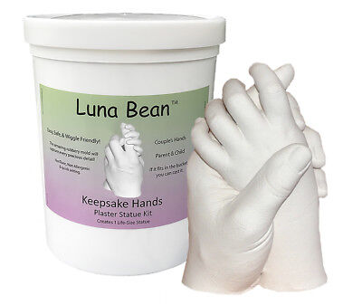 Luna Bean KEEPSAKE HANDS CASTING KIT Couples Wedding Mom Baby Plaster Hand Mold