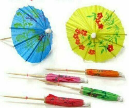 288 Mini umbrella parasol toothpick -smoothie, cocktails, tropical decor