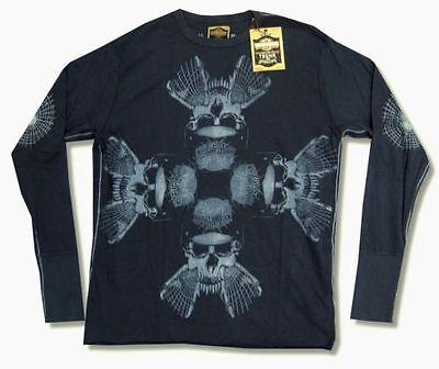 Harley Davidson Trunk LTD Short Tail Sweep Mens Long Sleeve Shirt New Official