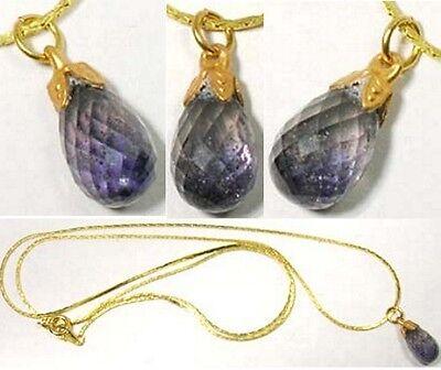 Purple Sapphire Pendant 3½ct Antique 19thC Pope Innocent Constantinople Sack Gem