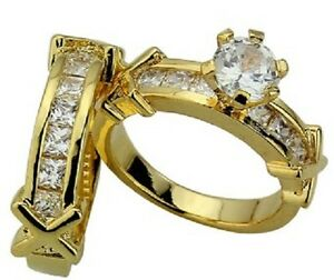 WHOLESALE-50 Sets of 18 KT GOLD&PLATINUM PLATED ENGAGEMENT RINGS