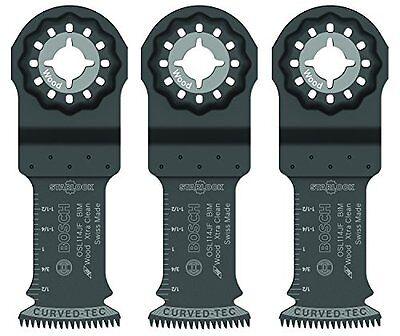 Bosch Osl114jf-3 Starlock Bi-metal Extra Clean Plunge Cut Blade 3 Pack 1-14