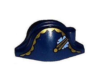 NEW LEGO - Headgear - Pirates - Hat Bicorne Gold Trim Blue Flower Governor 70412
