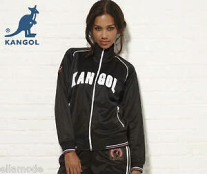 Kangol-Black-White-Pink-or-Blue-White-Retro-Tracksuit-Top-Jacket-Free-Ship