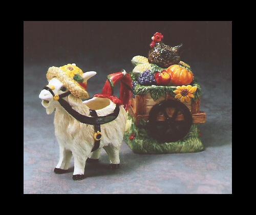 "Fitz and Floyd ""Greta the Goat"" Sugar and Cream Set"