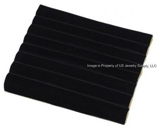 1 Black 7 Row Tufted Display Organizer Storage Liner Insert
