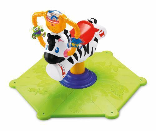 Fisher Price Bounce And Spin Zebra Ebay
