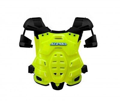 New Adult Acerbis Robot Body Armour Motocross Neck Brace Compatible Flo Yellow