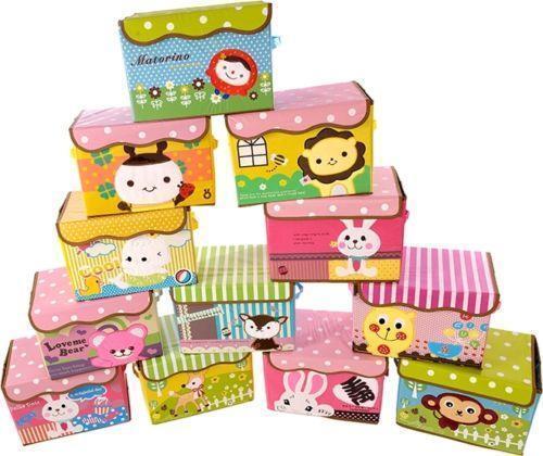 2019 New Wardrobe Kids Organizer Bins Box For Toys: Pop Up Toy Box