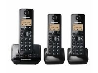 PANASONIC KX-TG2723EB TRIO DECT CORDLESS TELEPHONE SET WITH ANSWERING MACHINE