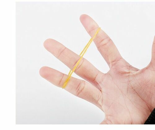 Small Elastic Rubber Band For Bunch Packing Material Yellow Color 1 PK