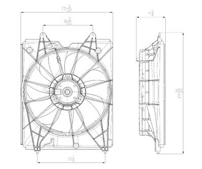 Engine Cooling Fan Assembly Left,Front Left TYC 601360