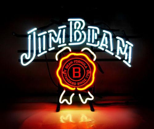 "New Jim Beam Whiskey Bar Beer Neon Sign 17""x14"""
