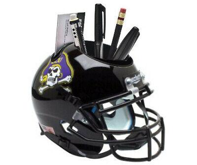 East Carolina Pirates (Black) NCAA Football Schutt Mini Helmet Desk Caddy ()
