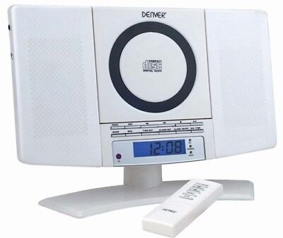 Stereoanlage mit CD, Radio und AUX Denver MC-5220 White Wandmontage geeignet