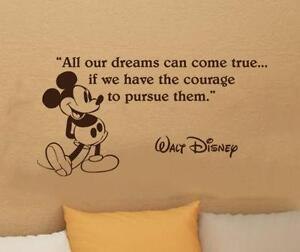 Merveilleux Disney Quote Wall Stickers