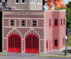 Miller-Engineering-Micro-Structures-Z-901-City-Fire-Station-Kit-NEW-USA-DEALER