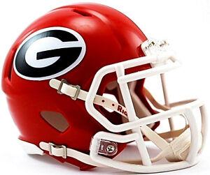 Georgia-Bulldogs-Riddell-NCAA-College-Revolution-Speed-Mini-Football-Helmet